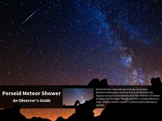 Perseid Meteor Shower - An Observer's Guide  - Created on Tactilize