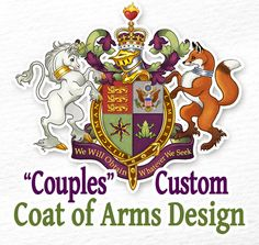 Custom Coat of Arms / Heraldry for Couples or Family