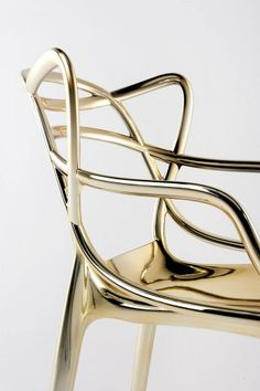 Kartel masters chair in gold Philipp Starck