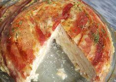 Csirkemelltorta recept foto Meat Recipes, Meat Meals, Diy Food, Meatloaf, Ale, Bacon, Favorite Recipes, Lunch, Beer