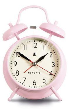 Covent Garden Alarm Clock - Dreamy Pink design by Newgate