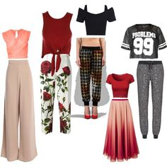 Inverted triangle body shape tops & bottoms by nancy-nishad on Polyvore featuring polyvore, moda, style, River Island, Ashish, Dolce&Gabbana, RED Valentino and Sweaty Betty