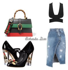 """""""Chill"""" by belanda-dee on Polyvore featuring Ermanno Scervino, Dolce&Gabbana and Gucci"""