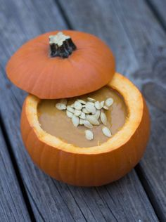 Spicy and Creamy Pumpkin Soup. A spicy pumpkin soup guaranteed to warm you up during the fall season. Spicy Pumpkin Soup, Roasted Pumpkin Seeds, Chowder Recipes, Soup Recipes, Creamy Chicken Tortilla Soup, Spicy Recipes, Soup And Salad, Good Food, Fun Food