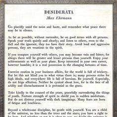 Sugarboo Designs Desiderata - Poetry Collection Sign #desiderata #sugarboodesigns
