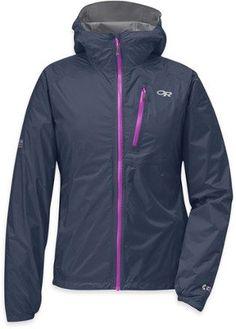 Outdoor Research Women's Helium II Rain Jacket Night/Ultraviolet XS