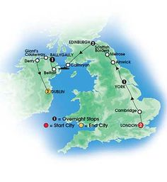 Our Upcoming Tour!!  BRITISH & IRISH DELIGHT 9 day Escorted Coach Tour of Britain and Ireland - Deluxe & Superior First Class hotels - Overnights: 2 London, 1 York, 2 Edinburgh, 1 Ballygally, 2 Dun Laoghaire, Dublin- Starts London/Ends Dublin - CIE Tours