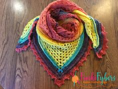 Tides Of Dawn Free Crochet Pattern by Amber Wheeler…This pattern can be made into a Triangle Scarf or a Shawl, using 2 cakes of Lion Brand Mandala Yarn