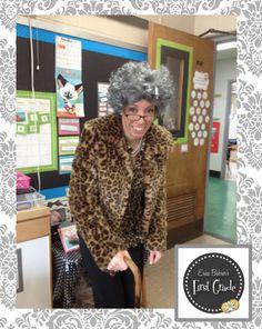 Erica Bohrer's First Grade: Happy 100th Day of School! School Spirit Days, 100 Days Of School, School Holidays, School Stuff, Old Teacher, Teacher Blogs, Teacher Humor, Kindergarten Rocks, Kindergarten Classroom