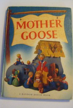 1949 Mother Goose Hardcover Book Art Work and by parkledge on Etsy, $30.00