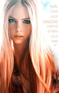 peach tips. a fun summer idea for light colored hair.