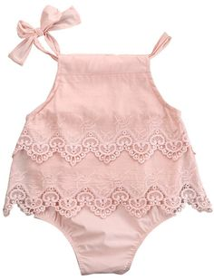 Summer Lace Baby Girl Romper