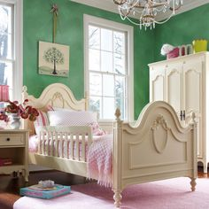 Cameo Low Post Panel Bed - modern - Kids Beds - Rosenberry Rooms