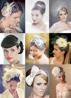 how to make a birdcage veil | Birdcage Veil Head Band with Lace Flower – Silver Sixpence in her ...
