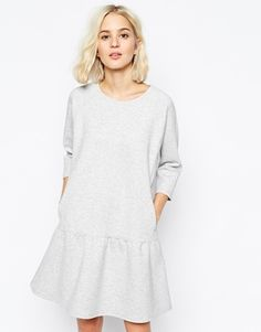 Weekday Structured Drop Waist Dress