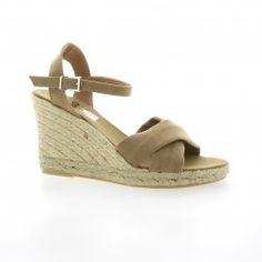 Pao Espadrille velours taupe
