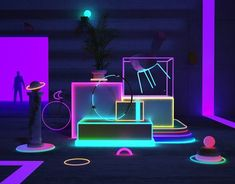 Random on Behance Stand Design, Display Design, Sitemap Design, Nightclub Design, Instalation Art, Neon Aesthetic, Neon Party, Co Working, Light Installation