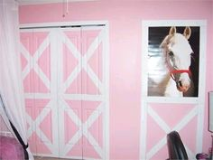 horse theme room for girl | Kids Wall Art: UNIQUE Pony Bedroom! Looks like something my daughter-in-law, Jackie, would love to try!