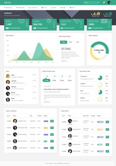 Buy Agroxa - Material Design Admin & Dashboard Template by Themesbrand on ThemeForest. Agroxa is a fully featured, multi purpose material design admin template built with bootstrap and JQue. Kpi Dashboard, Dashboard Design, Dashboard Examples, Dashboard Interface, Dashboard Template, User Interface Design, Material Design Dashboard, Project Dashboard, Planner Dashboard