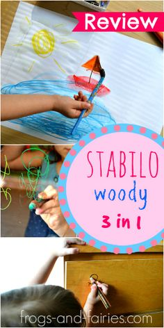 Stabilo Woody 3 IN 1 Crayons Review! - Frogs-and-Fairies.com