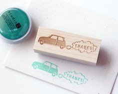 New MINI Cooper Thanks Rubber Stamp on Etsy, € 15,10