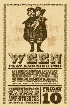 Ween Concert Poster by Jaime Cervantes