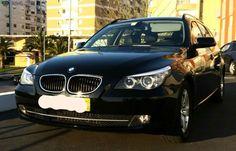 BMW 520D Touring Nacional Preta metalizada, GPS, Cruise Control, computador bordo, faróis Bi-Xénon, 4 pneus bridgstonee pastilhas travão novos e revisões na marca, Banco de pele pretos, Kit...