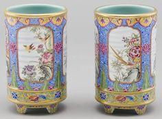 -jingdezhen-painted-porcelain-brush-pot by Silk Road Collection