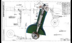 SUPERMARINE SPITFIRE MK VII-PART6 - SOLIDWORKS,STEP / IGES - 3D CAD model - GrabCAD Aircraft Parts, Ww2 Aircraft, 3d Cad Models, Scale Models, Fly Guy, Airplane Design, Supermarine Spitfire, Landing Gear, Mechanical Design