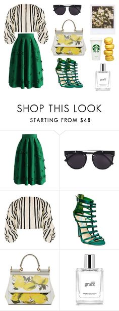 """#210"" by goodnightlovers ❤ liked on Polyvore featuring Chicwish, Vera Wang, Johanna Ortiz, Betsey Johnson, Dolce&Gabbana and philosophy"