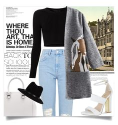 """""""COLLEGE."""" by fairouze ❤ liked on Polyvore featuring Topshop, Victoria Beckham, Cushnie Et Ochs, rag & bone and Carvela"""