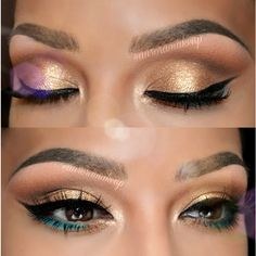 auroramakeup used the Wild Child Palette for this shimmering golden look!