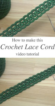 crochet projects This beautiful crochet cord pattern is based on a lush lace ribbon. It is a popular crochet project because it beautifies objects and accessories. Crochet Jewelry Patterns, Crochet Edging Patterns, Crochet Motifs, Crochet Accessories, Free Crochet, Knitting Patterns, Free Knitting, Learn Crochet, Russian Crochet