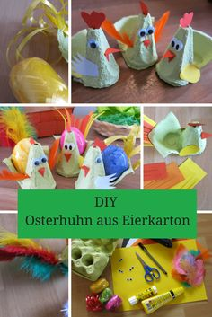 DIY: Wir basteln ein Osterhuhn aus Eierkarton