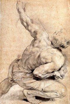 Peter Paul Rubens, Study of a Man's Back on ArtStack #peter-paul-rubens #art