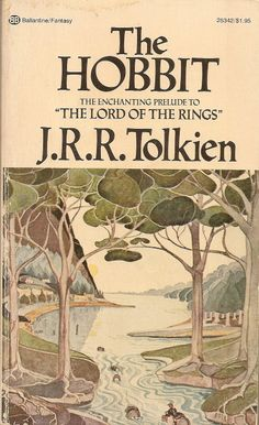 The Hobbit - J.R.R. Tolkien, cover by Tolkien
