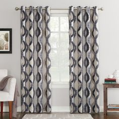 Block excessive heat and noise with the Sun Zero Henniker Room Darkening Grommet Curtain Panel. This attractive panel does double duty by keeping your space dark and quiet, as well as adding a splash of style to your décor. Printed Curtains, Grommet Curtains, Drapes Curtains, Drapery, Plaid Curtains, Elegant Curtains, Country Curtains, Modern Curtains, Wallpaper Roll
