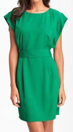 drape sleeve sash belt dress