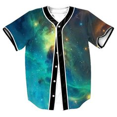 3D Galaxy Baseball Shirt 2017 Mens Fashion Baseball Jersey Single Breasted T Shirt Men/Women Casual Slim Fit Tee Shirt Homme 2XL #Affiliate