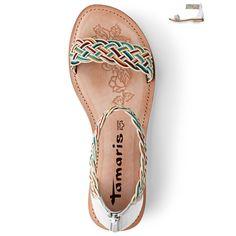 Tamaris White Comb - Leather Sandal