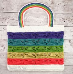 Charmed By Ewe Dragonfly Beach Tote Crochet Pattern