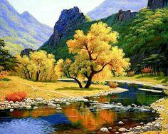 Beautiful World, Beautiful Places, Beautiful Pictures, Beautiful Scenery, Yellow Tree, Autumn Scenery, Autumn Nature, Nature Tree, Nature Pictures