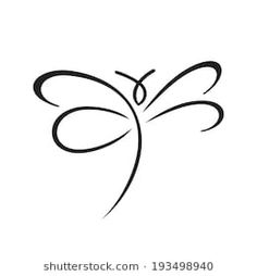 Butterfly sign Branding Identity Corporate logo design template Isolated on a white background Dragonfly Drawing, Small Dragonfly Tattoo, Dragonfly Images, Dragonfly Art, Body Art Tattoos, I Tattoo, Small Tattoos, Heart Tattoos, Karma Tattoo