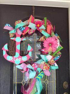Summer Anchor Wreath...Boy am I inspired!!! <3