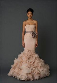 www.idolbridal.com $369 Mermaid Sash  Spring Fashion Wedding Dresses IDB044