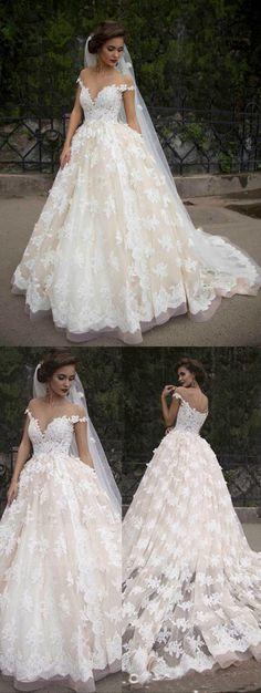 2017 wedding dress,white lace wedding dress, off the shoulder long wedding dress