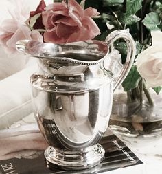 silver and roses...always pretty