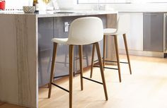 Bacco counter stool white leather $695