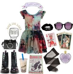 """Oddball"" by noirsilhouette on Polyvore"