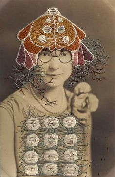 Stacey Page - Jess - hand embroidery on photographs